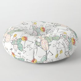 Prickly Pear Cacti and Triangles Floor Pillow