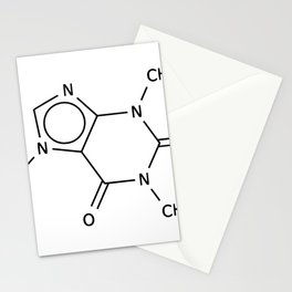 Molecular Structure of Caffeine Stationery Cards