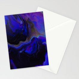 Dark Purple Blue Galaxy - Midnight Shades Stationery Cards