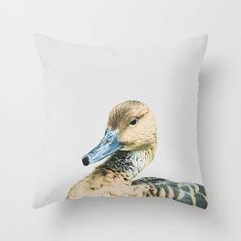 El Pato Arrogante Throw Pillow