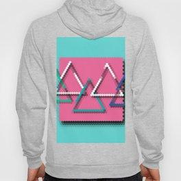 3D Pixelated Triangles Hoody
