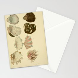 Vintage Print - Universal Dictionary of Natural History (1849) - Molluscs 5 Stationery Cards