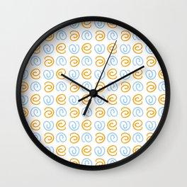 Spiral 4- Blue and orange Wall Clock
