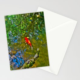 Water Reflections and Koi Fish (oil) Stationery Cards