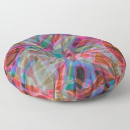 Colorful Abstract Stained Glass G297 Floor Pillow