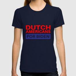 Dutch Americans For Biden - Election 2020 Democrat T-shirt