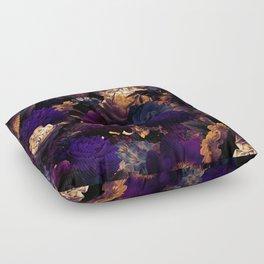 melancholy flowers big seamless pattern 01 late sunset Floor Pillow