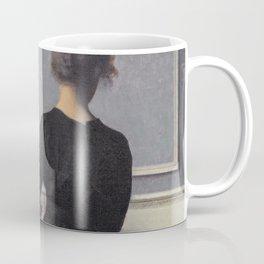 Vilhelm Hammershoi - Interieur Mit Rueckenansicht Einer Frau - Digital Remastered Edition Coffee Mug