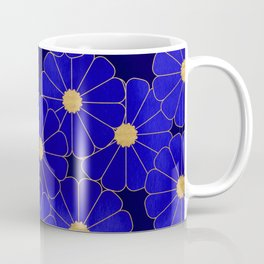 Daisy of the night_Blue Coffee Mug