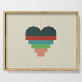 heart geometry Serving Tray