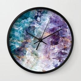 Quartz Stone - Blue and Purple Wall Clock