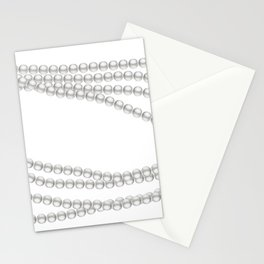 White Pearl Beaded Necklace Stationery Cards