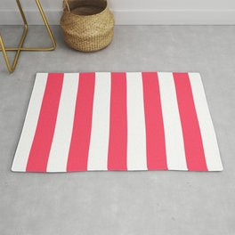 Magic Potion - solid color - white stripes pattern Rug
