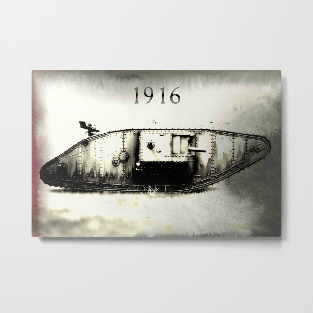 Tank 1916 Metal Print by Mothography MTP8078481
