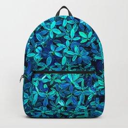 Teal leafs Backpack