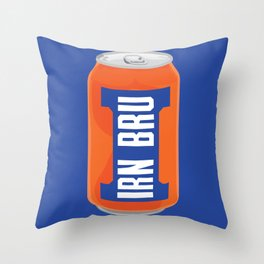 Irn Bru Throw Pillow