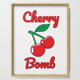 Cherry Bomb Retro Vintage Old Style Design Serving Tray