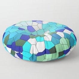 Green blue Turquoise Mosaik Floor Pillow