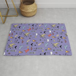 Hunger Game quality pattern  - purple version Rug