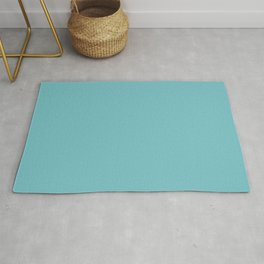 Solid Pale Blue Hosta Color Rug