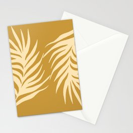 Mustard Monstera Leaves  Stationery Cards
