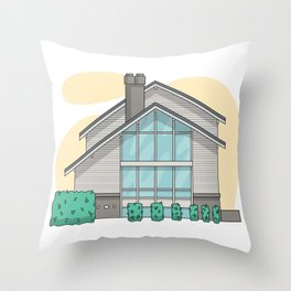 House with windows Throw Pillow