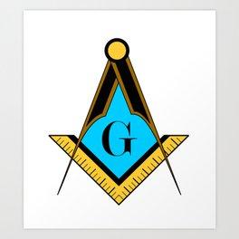 freemason symbol Art Print