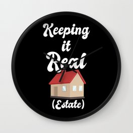 Realtor Design: Keeping It Real Estate I House I Residence Wall Clock