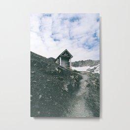 Mountain Hut Metal Print