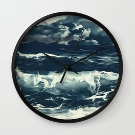 stormy sea waves reacfn Wall Clock