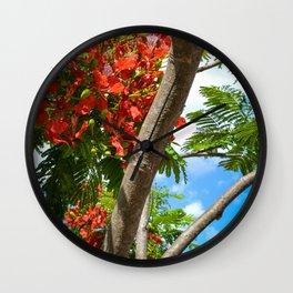 Royal Poinciana Wall Clock