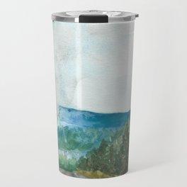 watercolor landscape // arizona roadtrip mountains trees forest Travel Mug