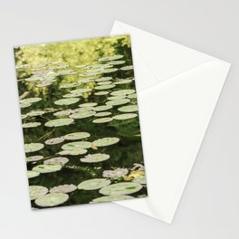 Lilies Green Camouflage Stationery Cards