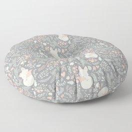 Sleeping Fox - grey Floor Pillow