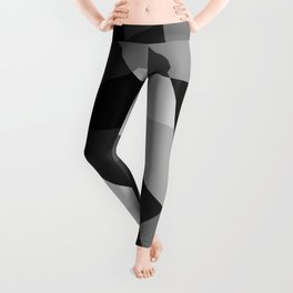 Mid Century Modern Abstract Rock Layers Charcoal Leggings