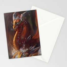 Ice Flowers - The Scarlet Ice Dragon Stationery Cards