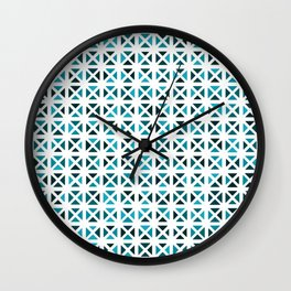 Rounded Triangle Pattern (Blue Green) Wall Clock