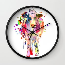 Colored Cow Wall Clock