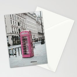 Pink Telephone Booth Romantic Photography Stationery Cards
