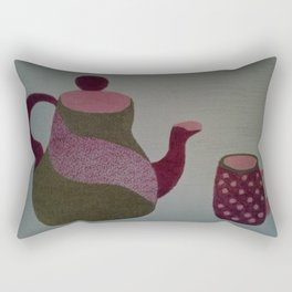 Modern Tea Set Rectangular Pillow