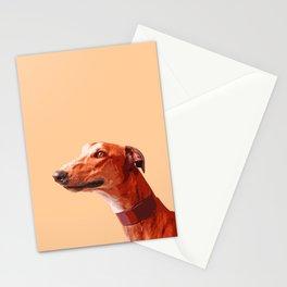 Orange Greyhound. Pop art dog portrait Stationery Cards