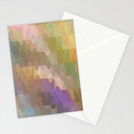 Soft Colored Rainbow Geometric Design Stationery Cards
