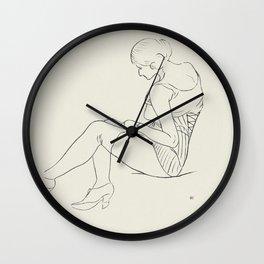 Vintage Woman Sketch Wall Clock