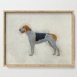 American Foxhound Serving Tray