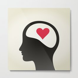 Heart in a head Metal Print