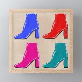 Shiny High Heel Boots Framed Mini Art Print