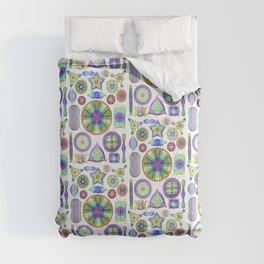 Ernst Haeckel Rainbow Diatoms Comforters