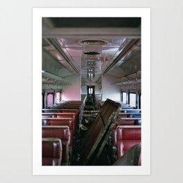 Abandoned Train Art Print