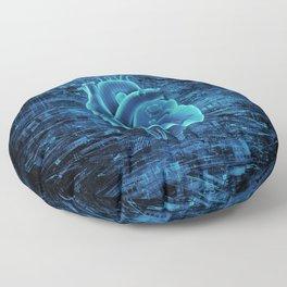 Gamer Heart BLUE TECH / 3D render of mechanical heart Floor Pillow