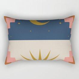 Day and Night Pattern Rectangular Pillow